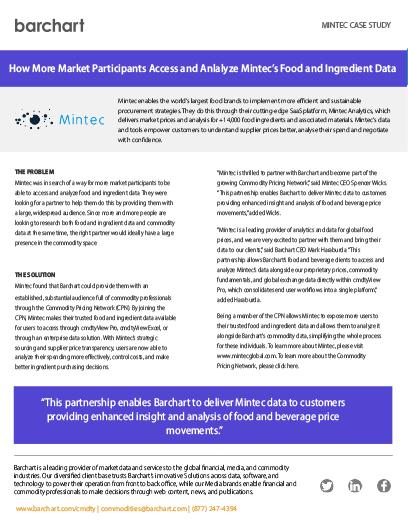 Download Case Study: Mintec